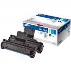 Двойная упаковка картриджей SAMSUNG MLT-P108A/SEE,  черный