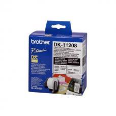 Адресные наклейки Brother DK11208 большие (38 x 90 мм), 400 штук в рулоне