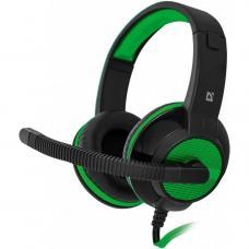 Игровая гарнитура DEFENDER Warhead G-200 зеленый/черный