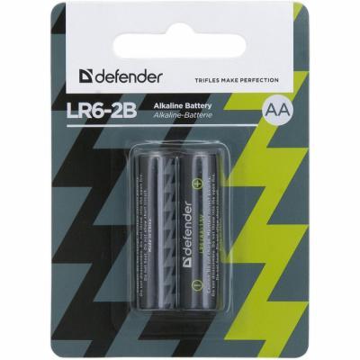 Батарейка алкалиновая LR6-2B AA, в блистере 2 шт DEFENDER