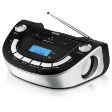 Аудиомагнитола BBK BS07BT, черный и серебро