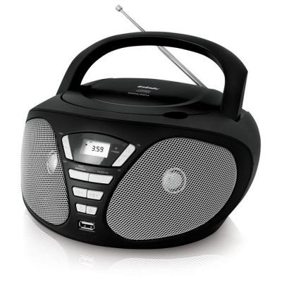 Аудиомагнитола BBK BX180U черный/серый