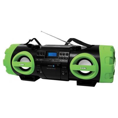 Аудиомагнитола BBK BX999BT черный/зеленый 80Вт