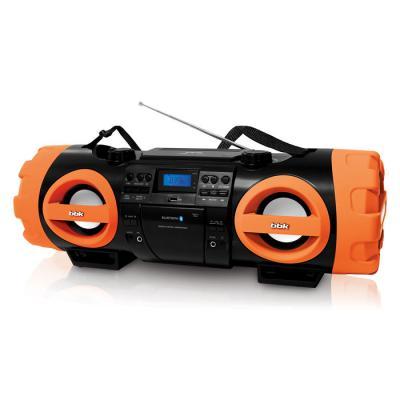 Аудиомагнитола BBK BX999BT черный/оранжевый 80Вт