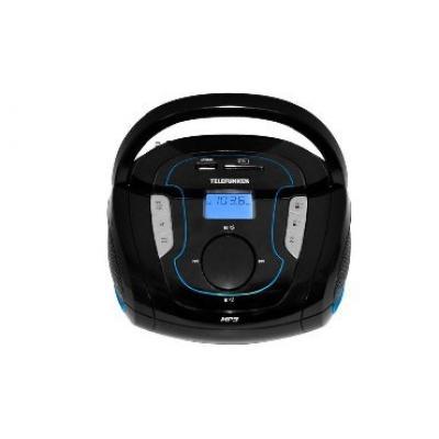 Аудиомагнитола Telefunken TF-SRP3471B, черный/синий