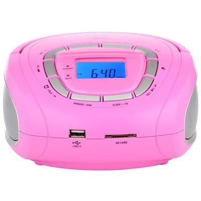 Магнитола BBK BS05 розовая/серебристая