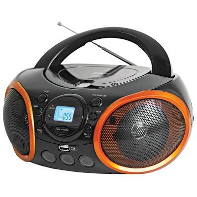 Магнитола BBK BX100U,  черный и оранжевый
