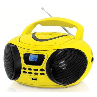 Магнитола BBK BX107U желтый и черный