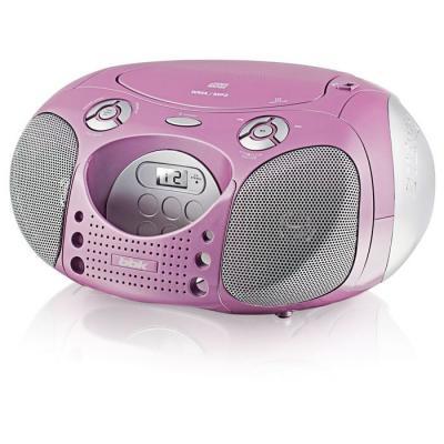 Магнитола BBK BX110U розовый с серебром