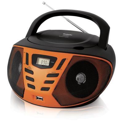 Магнитола BBK BX193U черный/оранжевый