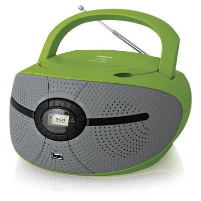 Магнитола BBK BX195U зеленый/серый