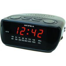 Часы с радиоприемником SUPRA SA-36FM black/red