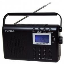 Часы с радиоприемником SUPRA ST-116 black