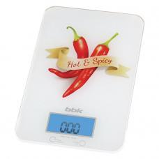Кухонные весы BBK KS106G, белый/красный