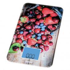Кухонные весы BBK KS107G, темно-синий/красный