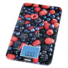 Кухонные весы BBK KS107G, черный/красный