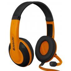 Игровая гарнитура DEFENDER Warhead HN-G120 оранжевыйчерный