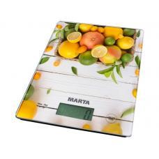 Весы кухонные Marta MT-1634 цитрусовый микс/К